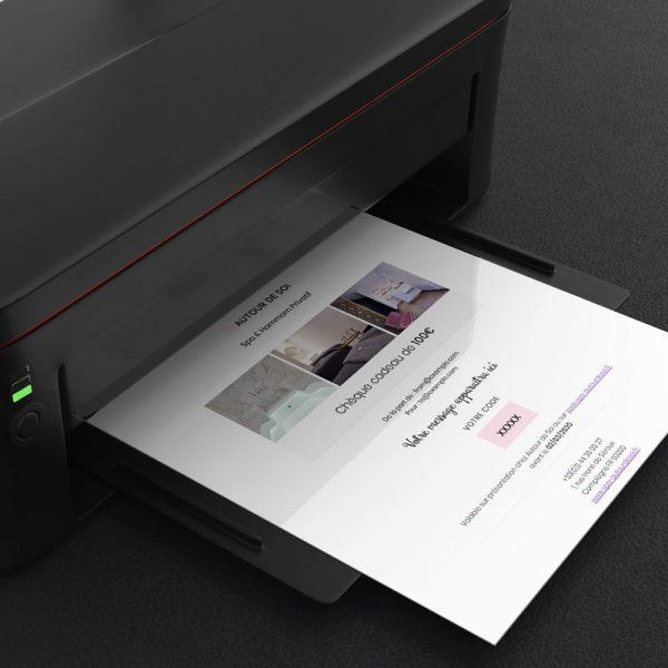 imprimer cheque cadeau