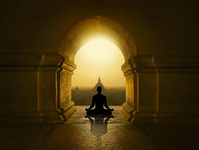 Décor indien méditation