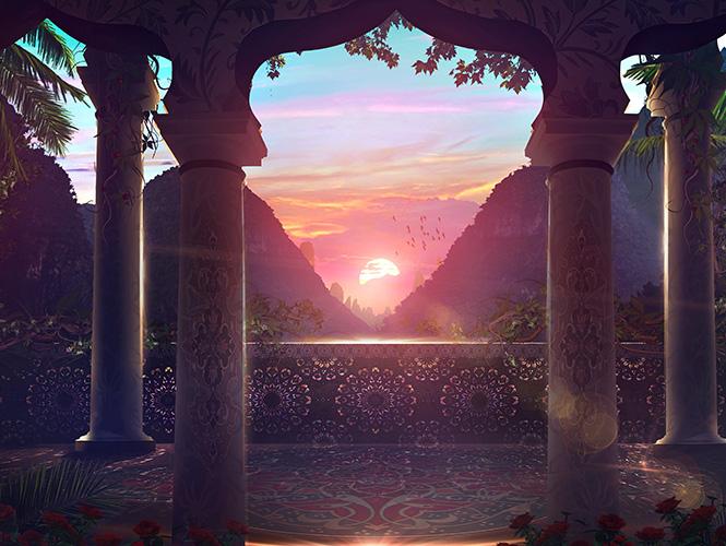 décor oriental avec vue
