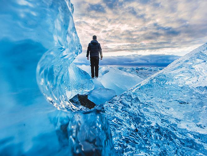 homme pôle nord fraicheur
