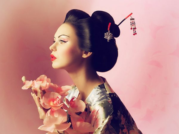 Geihsa fleurs visage pureté